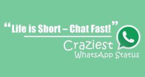 Short crazy whatsapp status