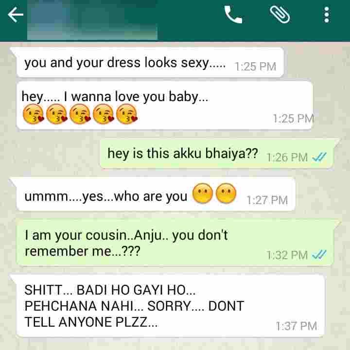 Whatsapp conversation funny